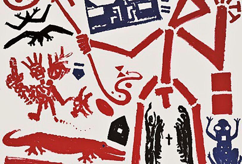 'Tríptico para Basquiat (Detalle)' ©A.R. Penck, VEGAP, A Coruña, 2021.   | // L.O.