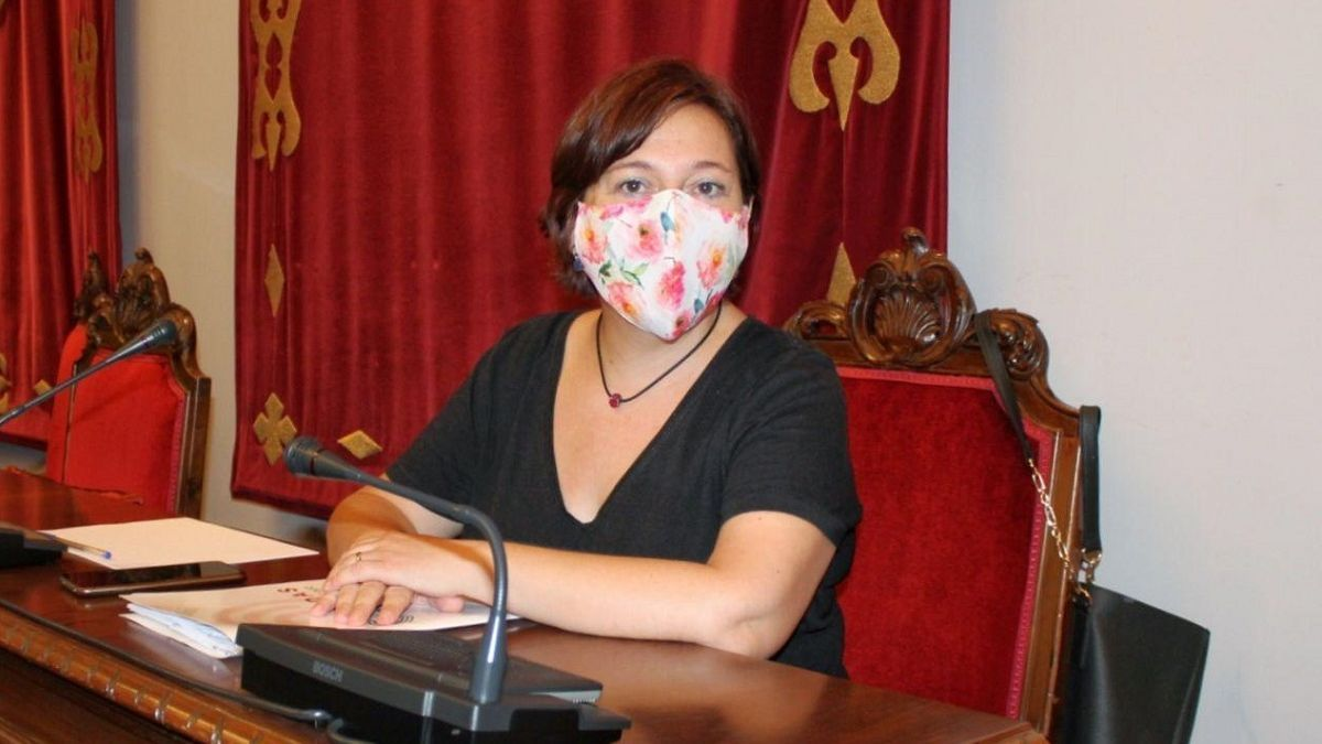 La secretaria regional de Acción Institucional de Podemos, Leli García.