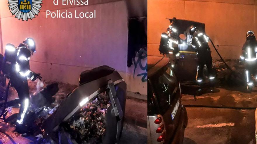 La policía interrumpe un botellón con 12 personas en ses Feixes de Ibiza