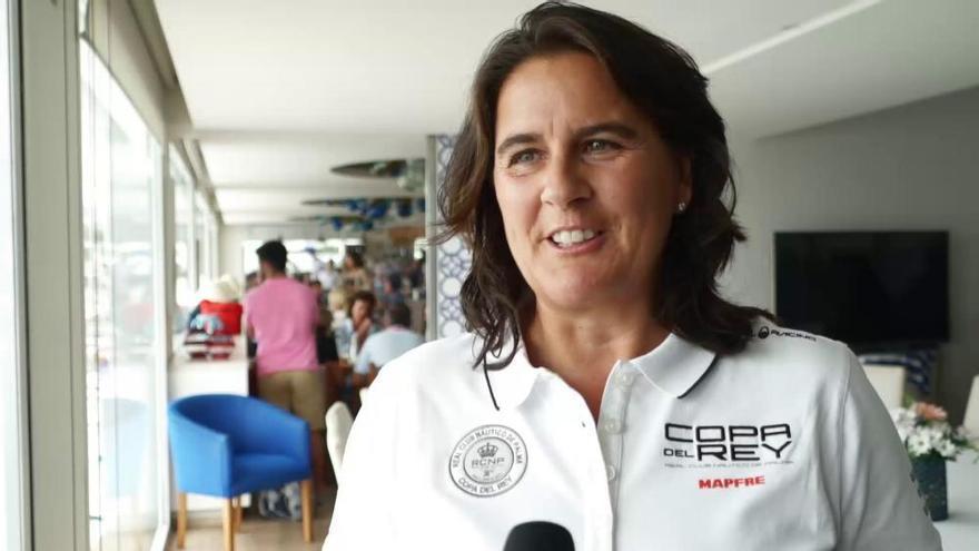 Conchita Martínez visita la Copa del Rey Mapfre