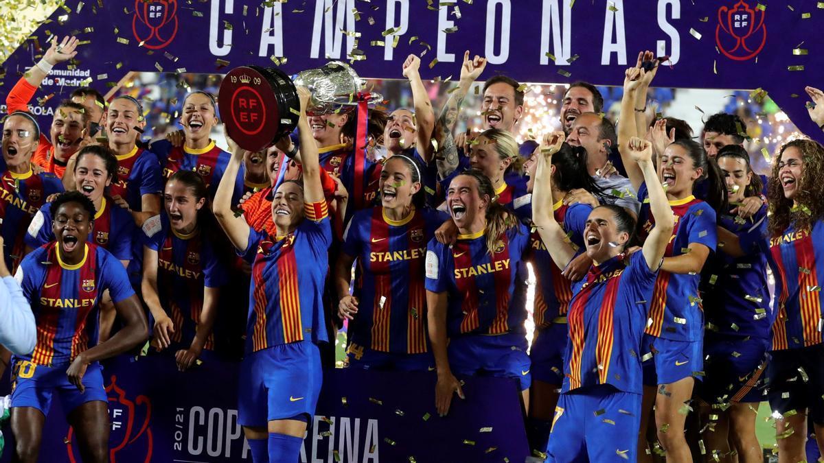 Las jugadoras del FC Barcelona.