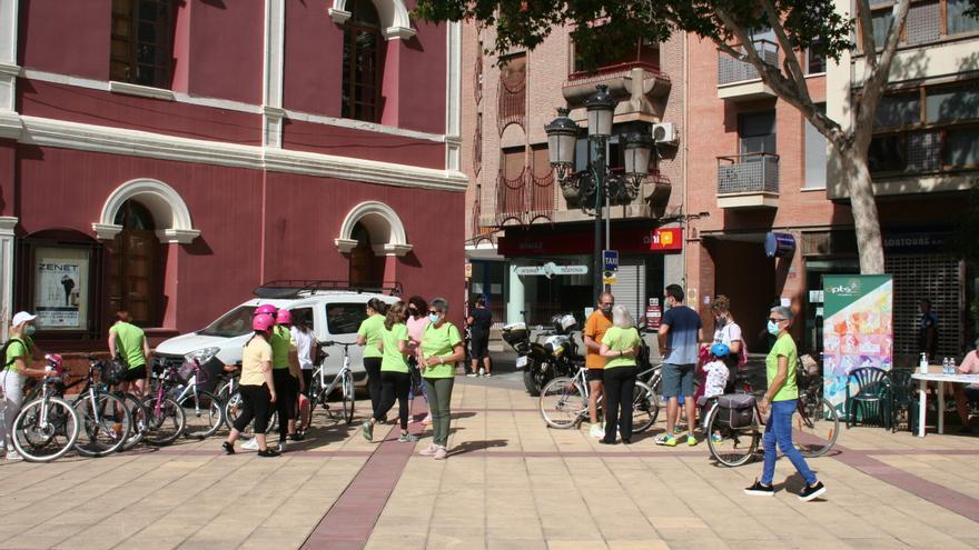 Un paseo en bici para clausurar los Encuentros deportivos de la mujer en Lorca