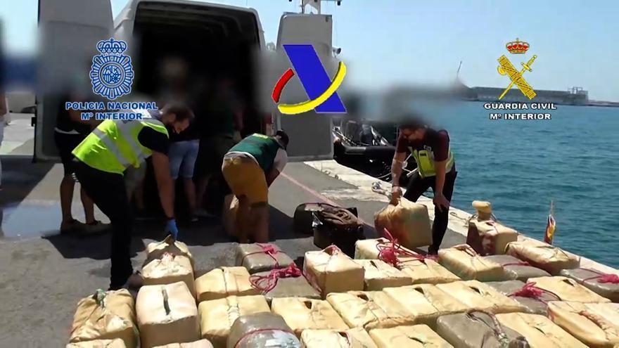 Desarticulada una banda que pretendía introducir 12 toneladas de hachís por todo el Levante