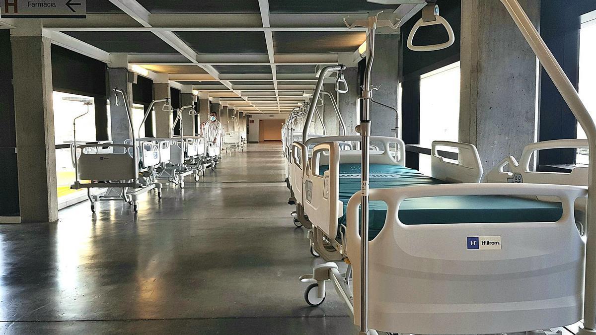 Camas que se instalaron a finales de enero en la primera planta de Ca na Majora para acoger pacientes quirúrgicos.