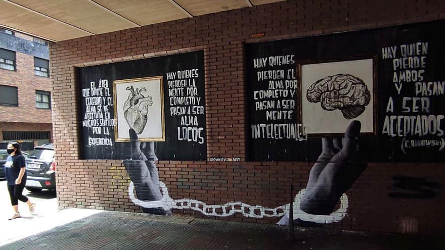 Siero sigue sumando grafitis en sus calles y aspira a ser un referente en arte urbano