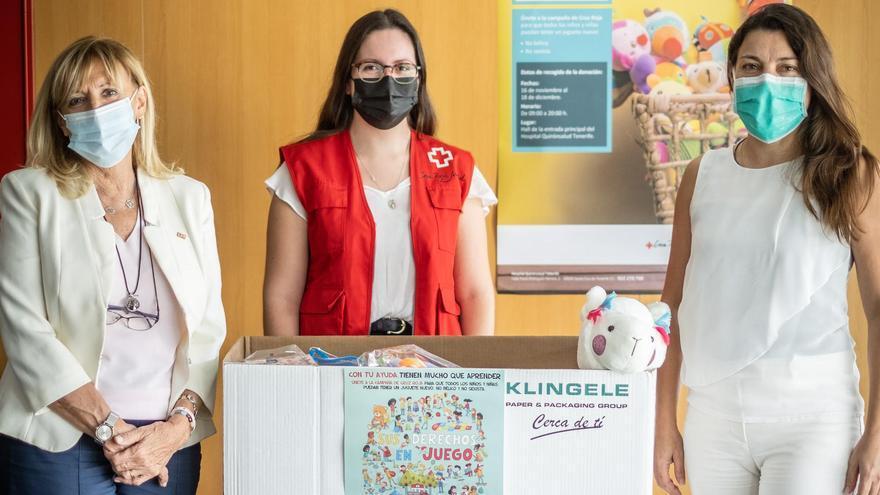 Quirónsalud en Tenerife se suma a la campaña de recogida de juguetes de Cruz Roja Española
