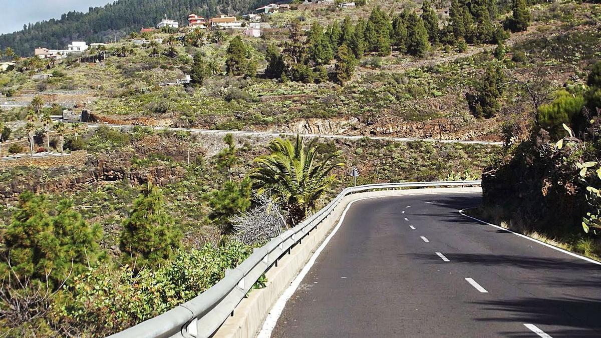 La carretera de Tijarafe.