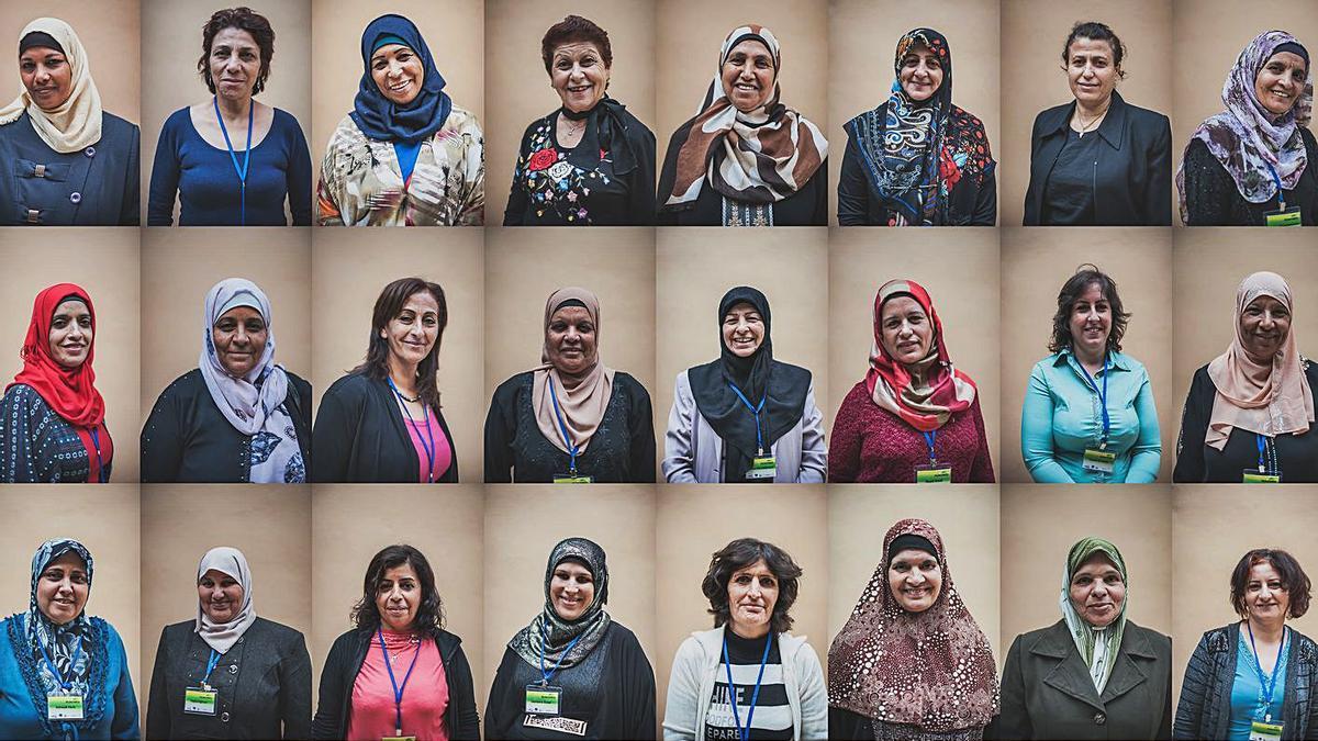 Un grup de les dones de diferents associacions palestines que han participat a la iniciativa. | LEVANTE-EMV