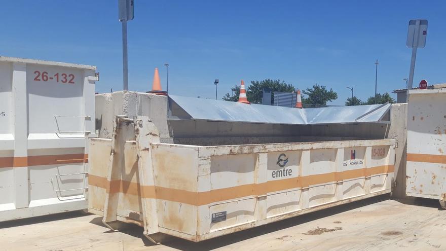 El Ecoparque de Paterna intala un contendor para escombros de particulares