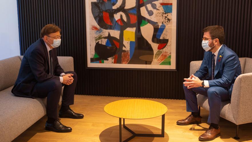 Pere Aragonés se reúne con Ximo Puig