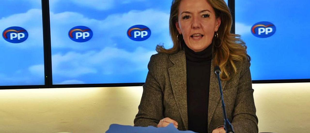 Teresa Mallada, ayer, durante el comité ejecutivo autonómico del PP.