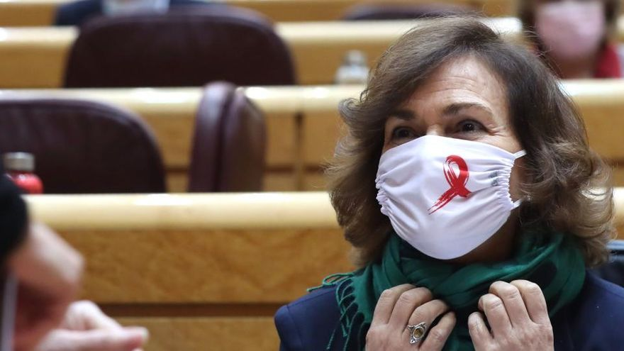 """Carmen Calvo: """"Canarias no es ruta para entrar en Europa"""""""
