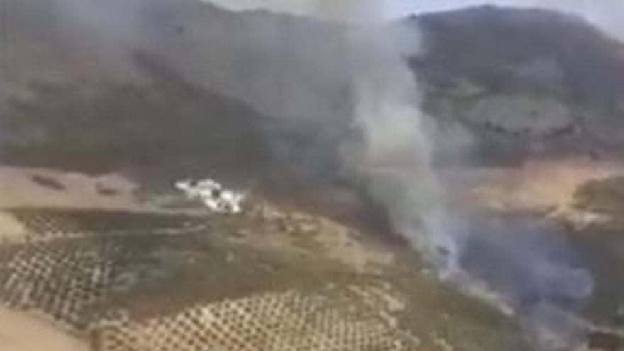 Controlado el incendio en un paraje de Periana