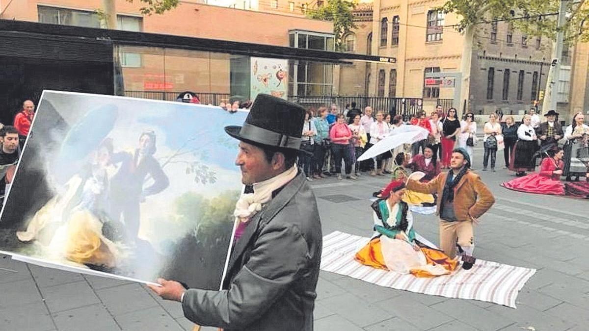 Una de las actividades realizadas en la Semana de Goya en el año 2019.