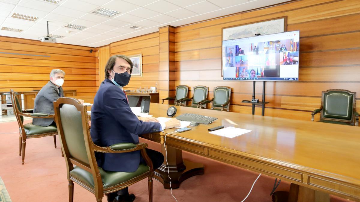 El consejero de Fomento y Medio Ambiente de la Junta de Castilla y León, Juan Carlos Suárez-Quiñones, participa en el Consejo Consultivo de Política Agrícola