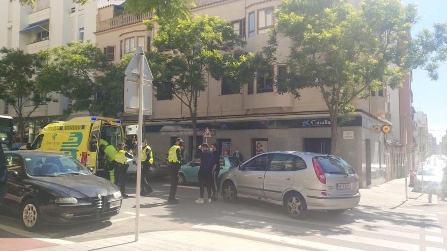 Un hombre herido al ser atropellado en un paso de peatones en Palma