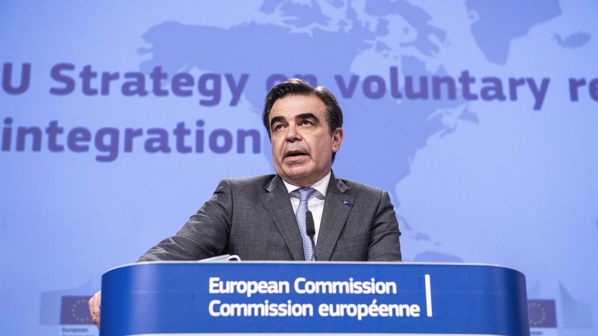Margaritis Schinas, vicepresidente responsable de Migración de la UE.