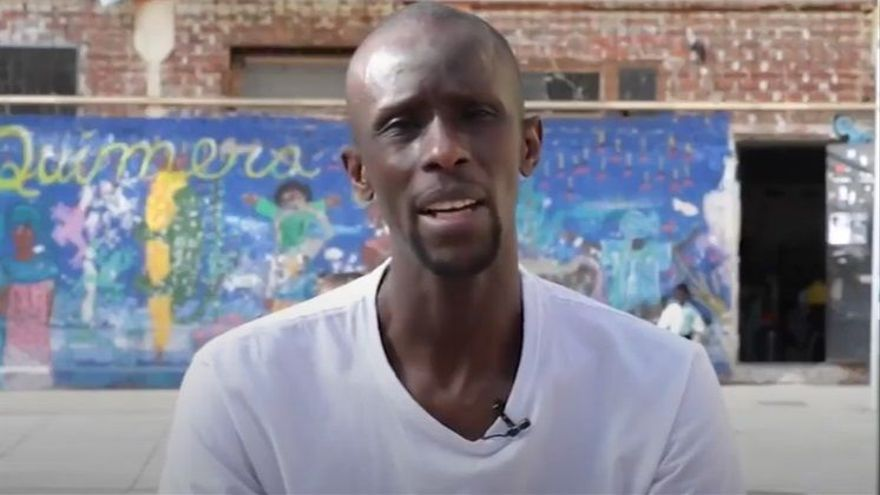 El portavoz del Sindicato de Manteros, Serigne Mbayé