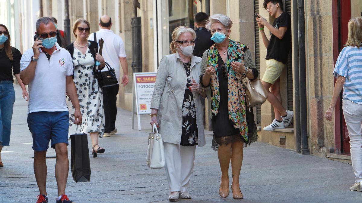 La situación en Ourense es una de las más delicadas de la comunidad. En la imagen, la calle del Paseo // Iñaki Osorio