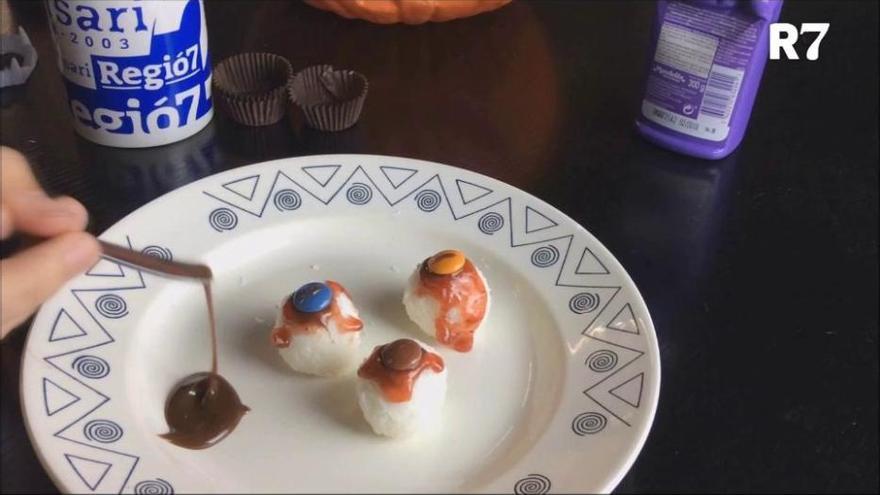 Ulls de coco per Halloween