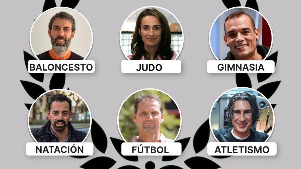 Berni Rodríguez, Isabel Fernández, Gervasio Deferr, Rafa Muñoz, Fernando Giner y Andrés Díaz.