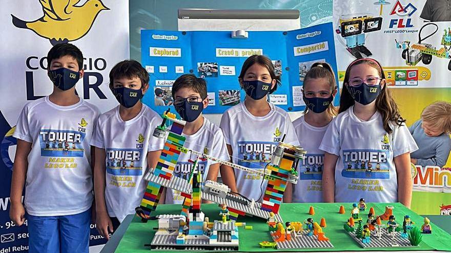 El Colegio Lar logra dos premios nacionales con sus maquetas deportivas de Lego