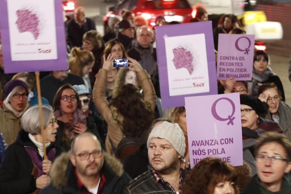 Vigo entona la defensa de los derechos de las mujeres