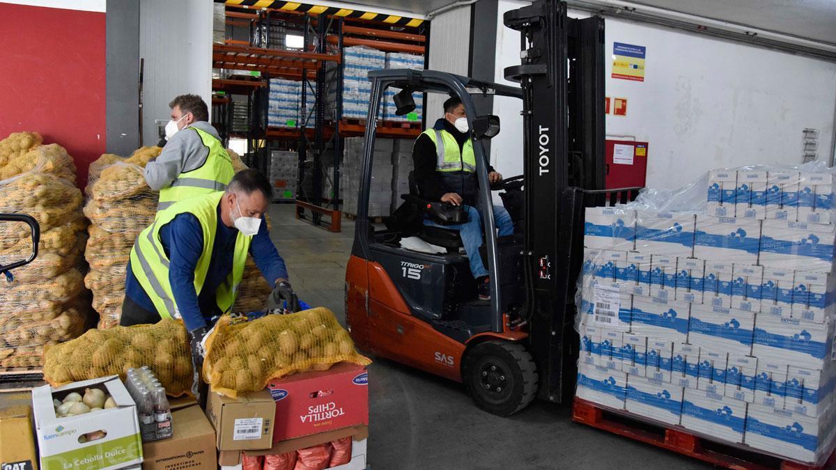 La primera edición de Ningún hogar sin alimentos sumó 3,4 millones de euros, con los que se compraron 3.600 toneladas de comida.