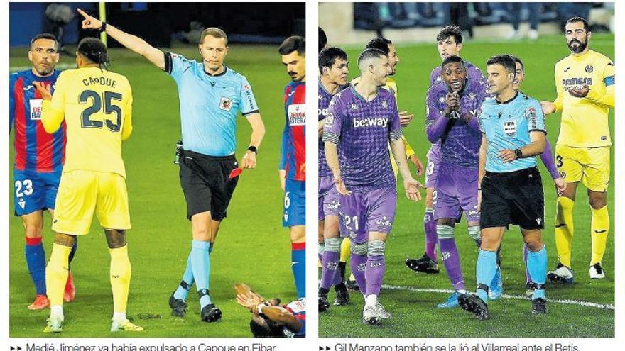 El Villarreal clama respeto arbitral