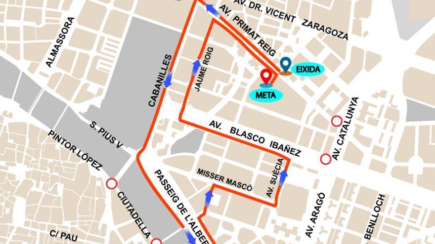 Calles cortadas y desvíos en la EMT por la IX Carrera Universitat de València este domingo