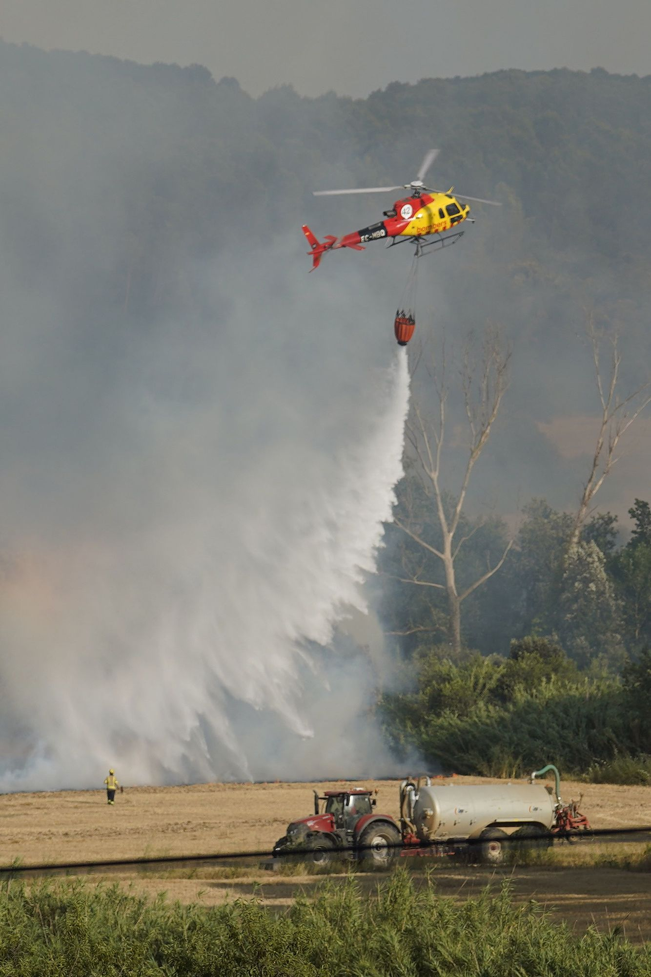 Les imatges de l'incendi de Ventalló i Vilopriu