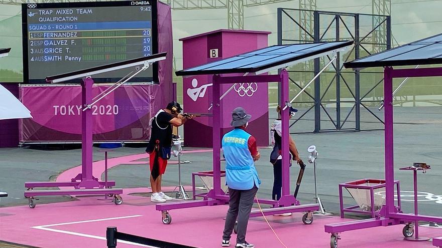 Alberto Fernández y Fátima Gálvez se colgarán una medalla en 'trap' mixto