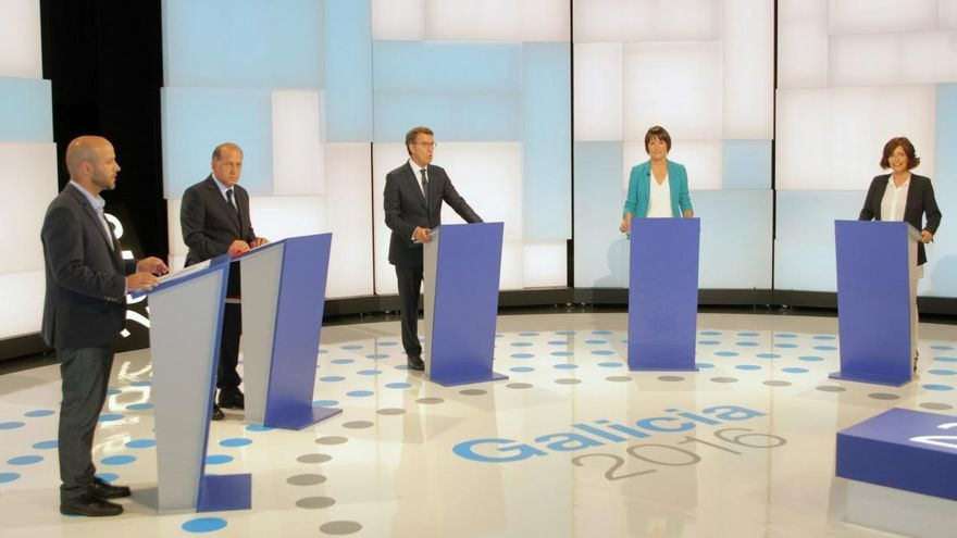 El único debate a siete entre los candidatos a la Xunta se celebra esta noche