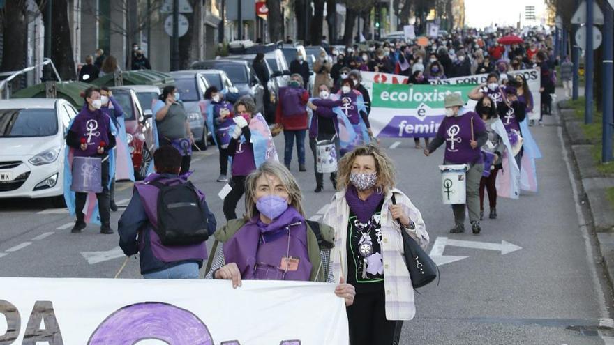 Las imágenes de la manifestación del día de la Mujer en Vigo