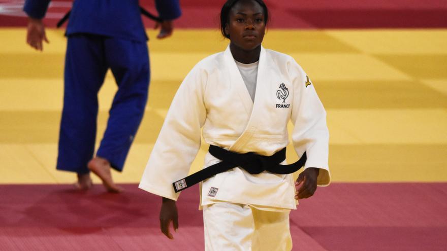 La francesa Clarisse Agbegnenou, medalla de oro en -63 kg de judo