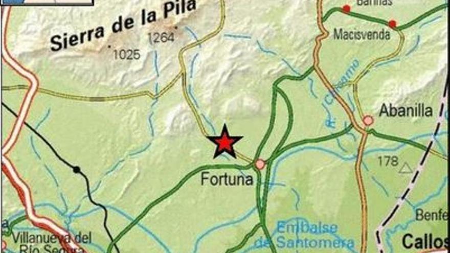 Fortuna registra un terremoto de 2,4 grados