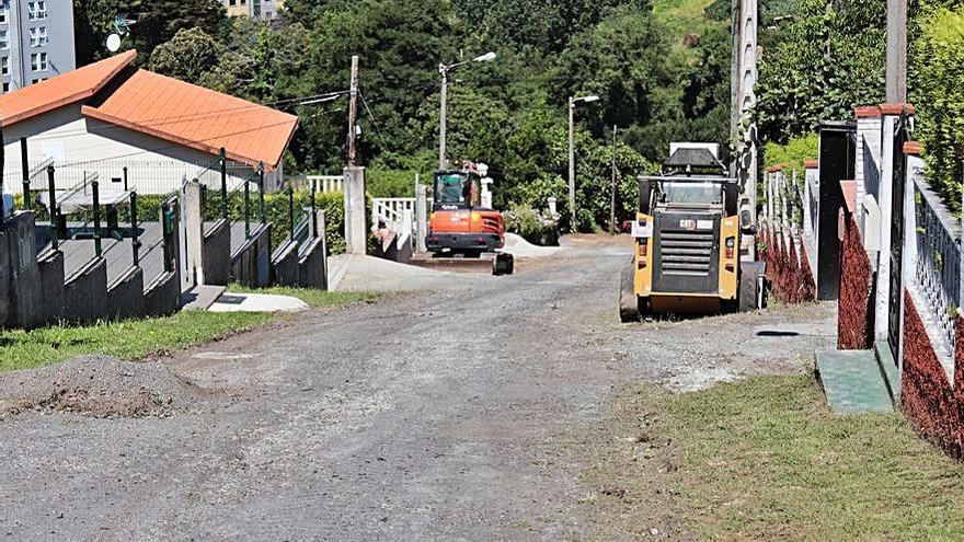 Culleredo renueva la calle Canabal, en Vilaboa