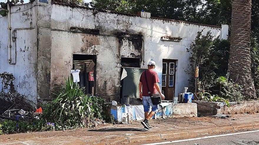 La casa que ardió,  de nuevo 'okupada'
