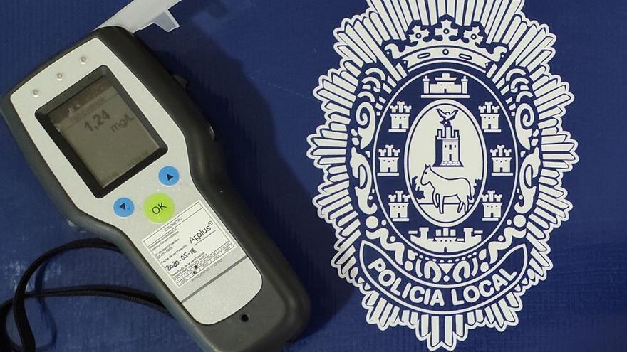 Detenido en Mula un conductor que quintuplicaba la tasa de alcohol