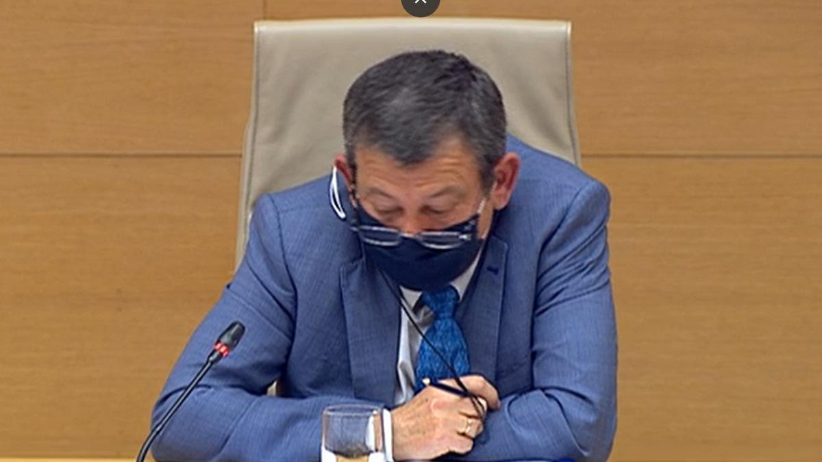 El policía Bonifacio Díaz Sevillano, compareciendo en la comisión Kitchen