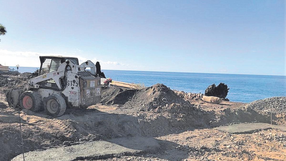 Una de las obras en la costa de Guía de Isora