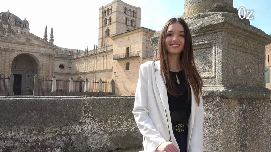 Carla López, la Miss Mundo Zamora del año del coronavirus