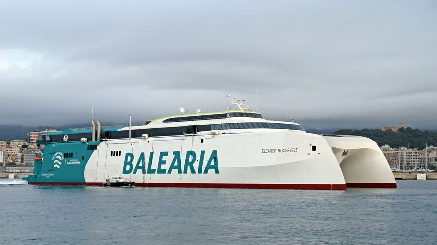 Llega a Palma el 'Eleanor Roosevelt', el nuevo barco sostenible de Baleària