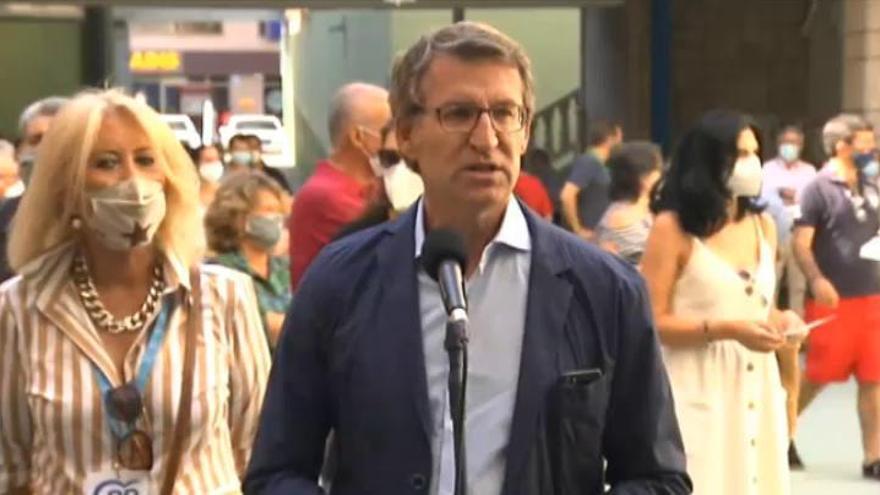 """Feijóo destaca la """"normalidad"""" electoral en A Mariña"""