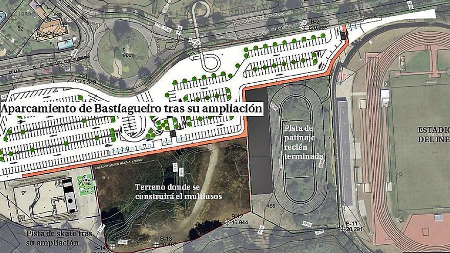 El Concello de Oleiros adjudica la redacción del proyecto del edificio multiusos de Bastiagueiro