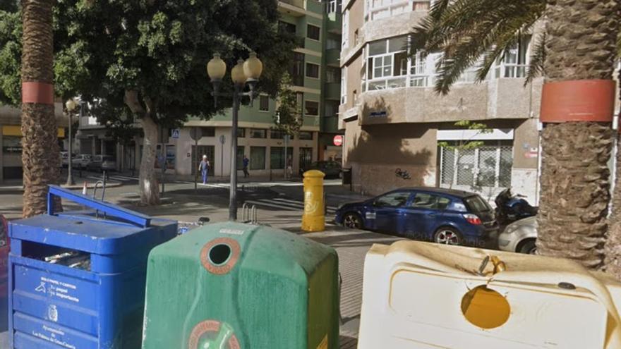 Un adolescente roba un coche y provoca un accidente en Las Alcaravaneras