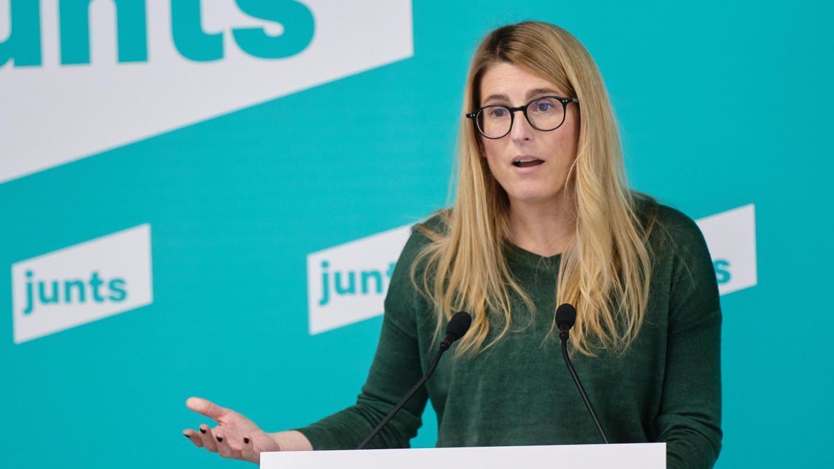 La vicepresidenta y portavoz de JxCat, Elsa Artadi.
