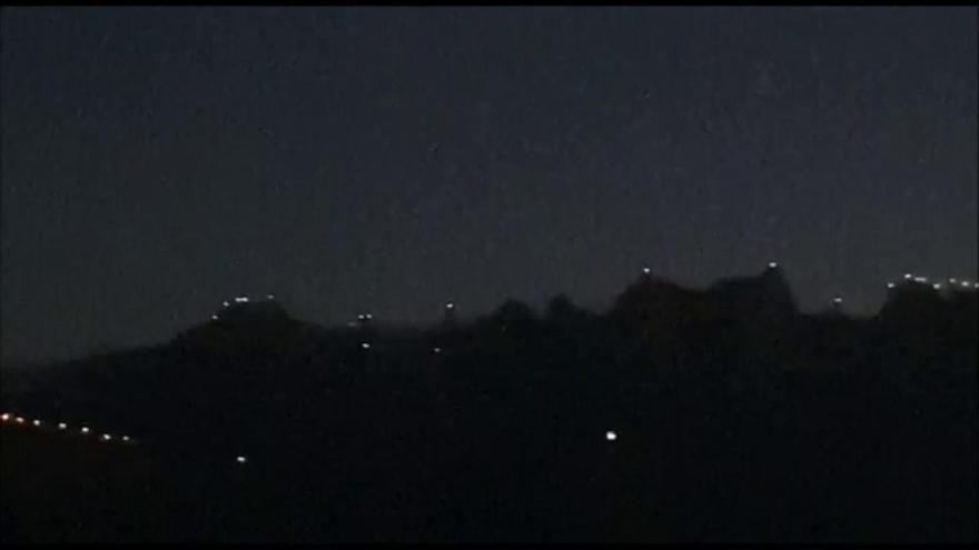 «Llum i llibertat» il·lumina les agulles de Montserrat