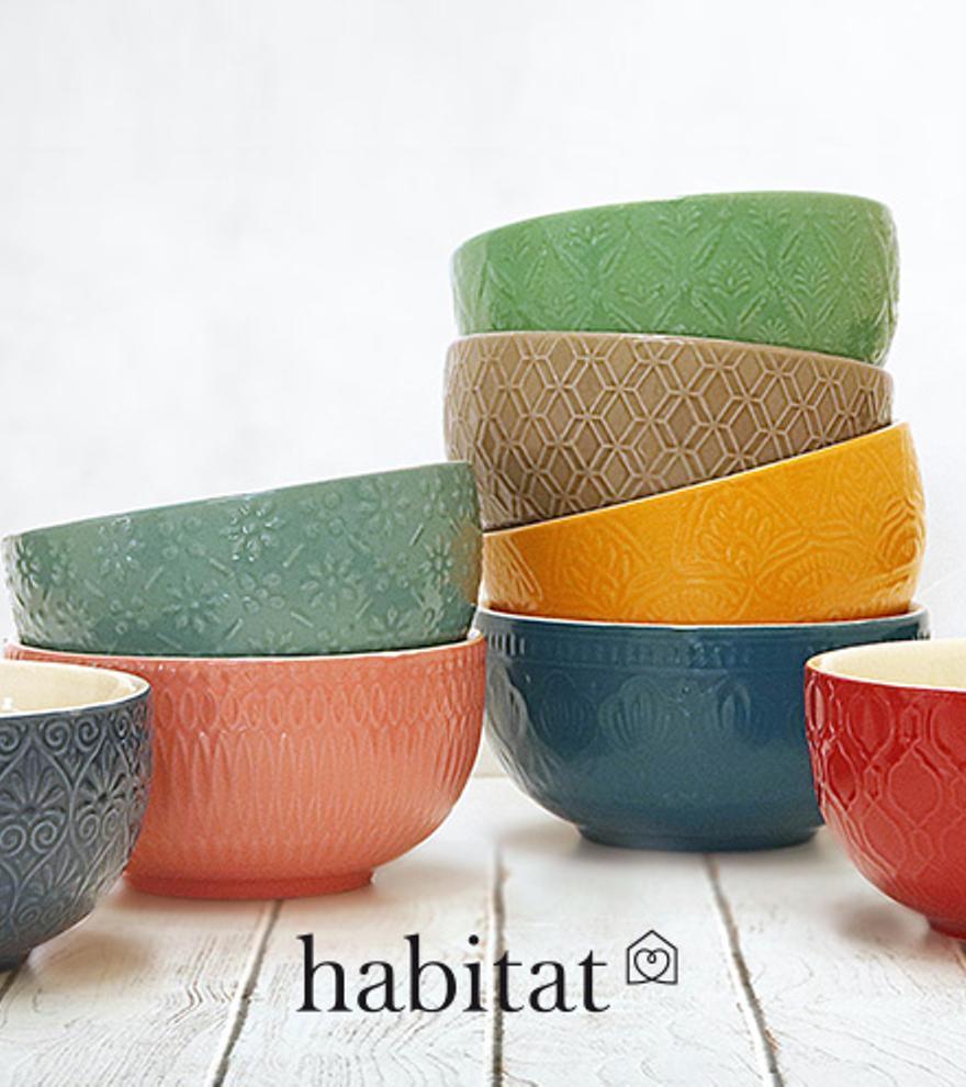 Completa tu mesa con los boles con relieve de la marca Habitat y dale un toque de distinción