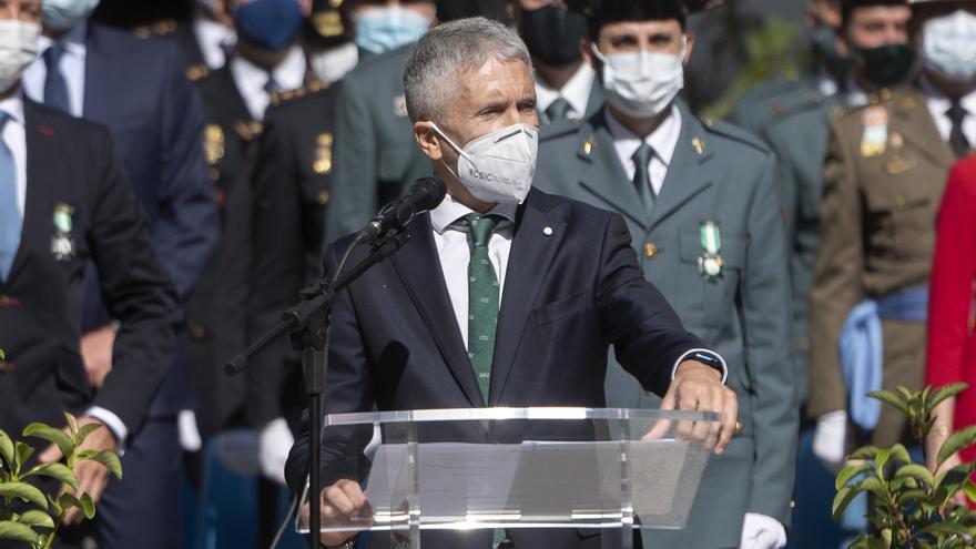 Marlaska aplaude la actitud de la Guardia Civil en las crisis que afectan a España